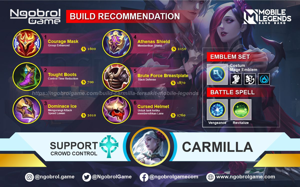 Build Carmilla Savage Mobile Legends