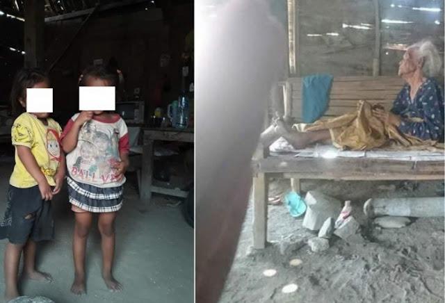 Hidup Di Gubuk Reyot, Anak Kembar 5 Tahun Ini Sejak Bayi Sudah Ditinggalkan Oleh Orangtuanya