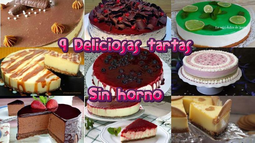 9 increíbles recetas de tartas sin horno