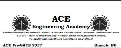 Ace Academy Pre Gate Test Paper Electrical Engineering