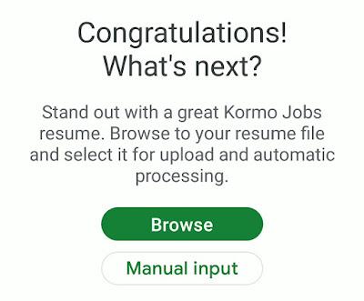 google kormo jobs finder