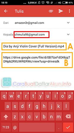 cara mengirim file lewat aplikasi gmail