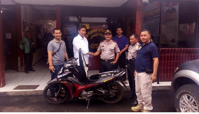 Motor yang Dicuri Dikembalikan, Warga: Terima Kasih Pak Polisi