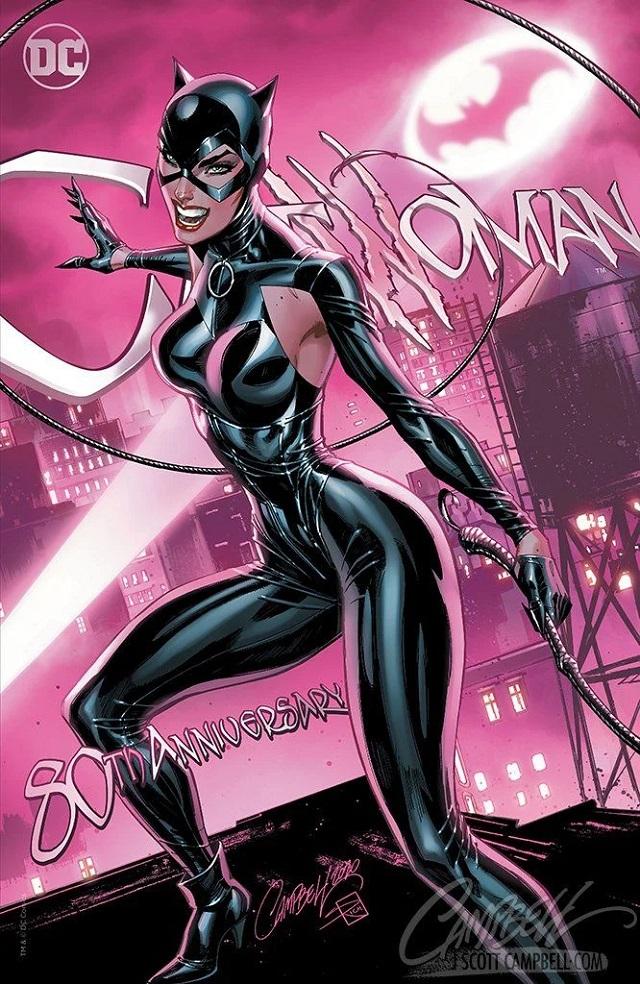 Catwoman traje sado según J. Scott Campbell