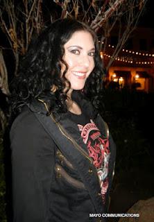 image  of Kristen faulconer at night.