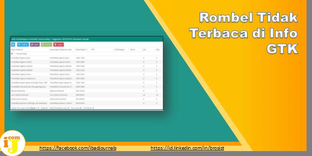 Rombel Tidak Terbaca di Info GTK
