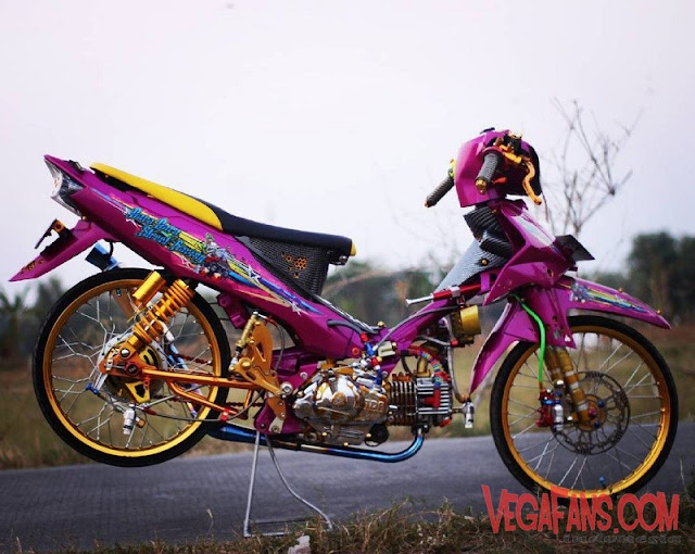 Modifikasi Vega R New Thailook Ungu