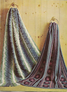 Hairpin Lace Crocheted Afghan Pattern