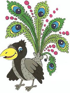 Ворона в павиному пір'ї
