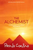 The book cover page of The Alchemist