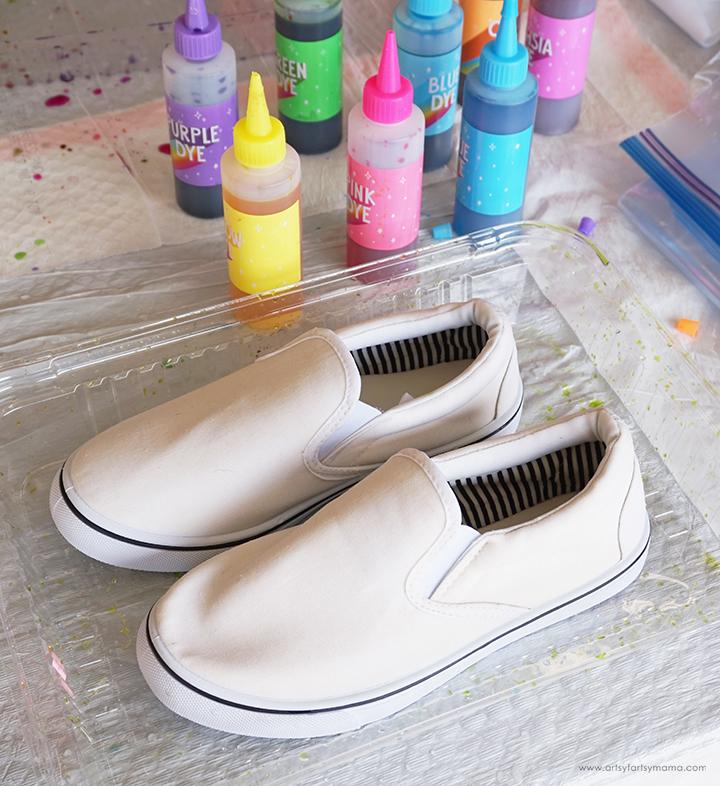 White Shoes Tie Dye Prep
