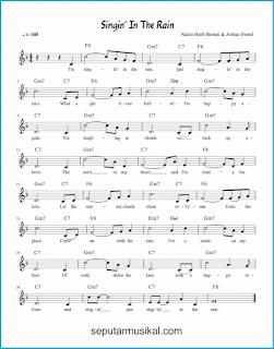 chord singin' in the rain lagu jazz standar