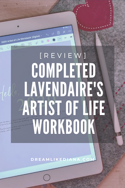 lavendaire's artist of life workbook pinterest pin review