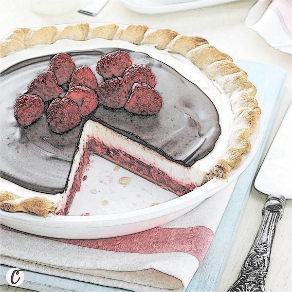 Chocolate Raspberry Pie 🥧
