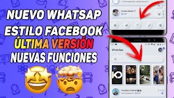 WHATSAPP ESTILO FACEBOOK ULTIMA VERSION 2020 NUEVA APARIENCIA / DELTA WHATSAPP