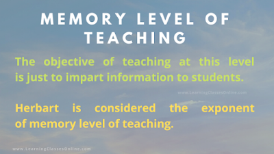 memory level of teaching ppt and pdf notes slideshare, memory level teaching, 1st level teaching,