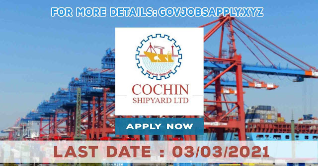 Hooghly Cochin Shipyard Limited Project Assistant Job Recruitment Notification Details 2021 | Last Date 03rd March 2021