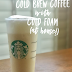 Cold Brew Coffee and Cold Foam #PinterestChallenge