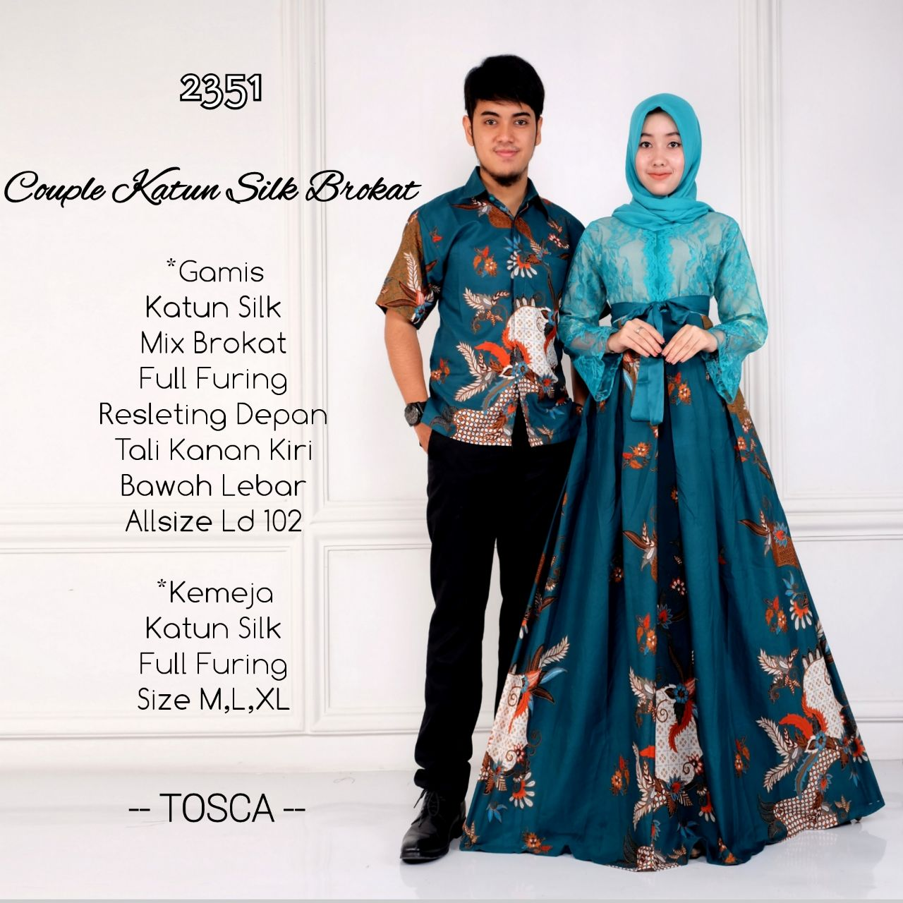 Model Gamis Batik Mix Brokat