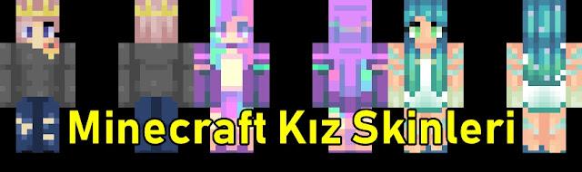Minecraft Kız Skinler