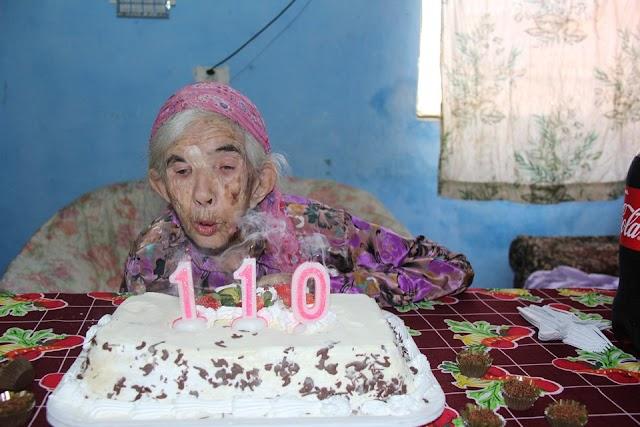 Idosa completa 110 anos com boa saúde
