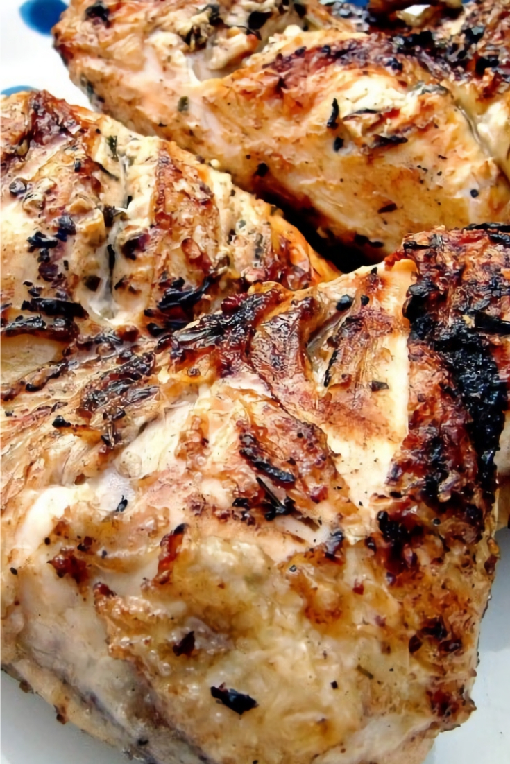 Flattened Moist BBQ Garlic and Lemon Chicken Recipe