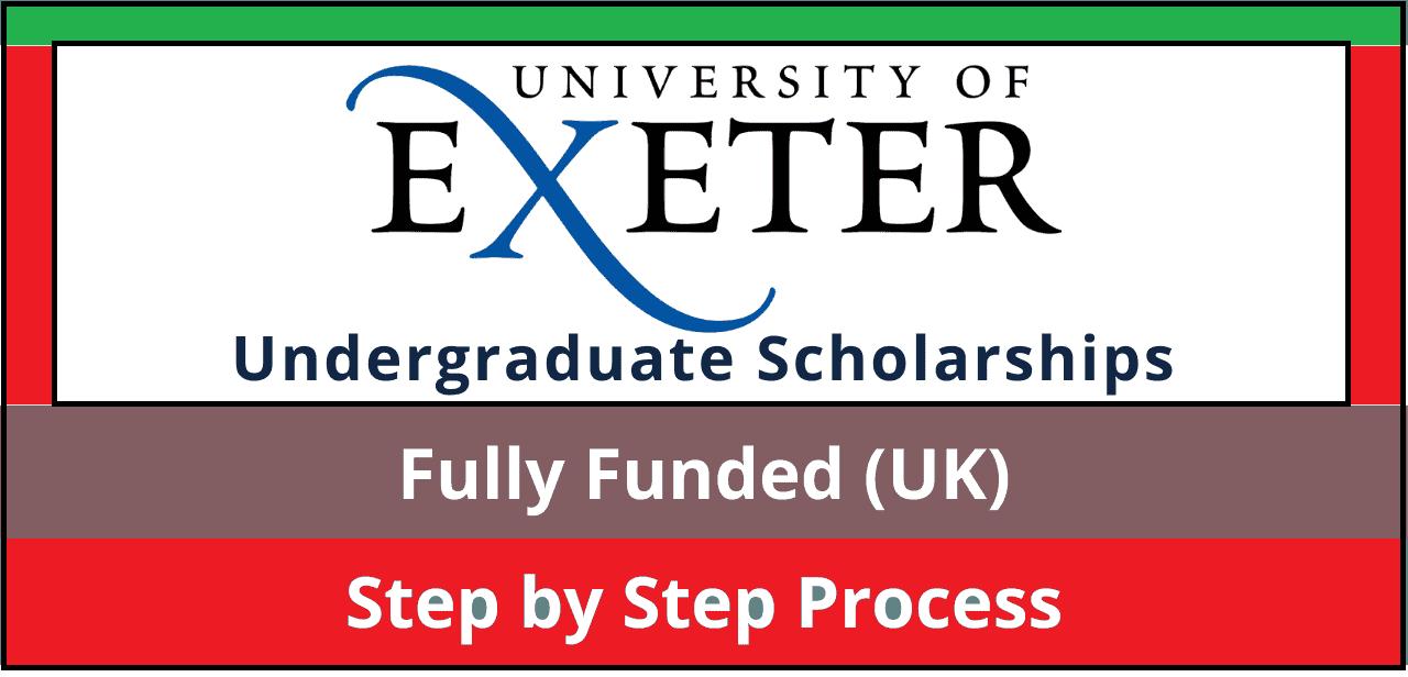 منح جامعة إكستر 2022   عملية التطبيق
