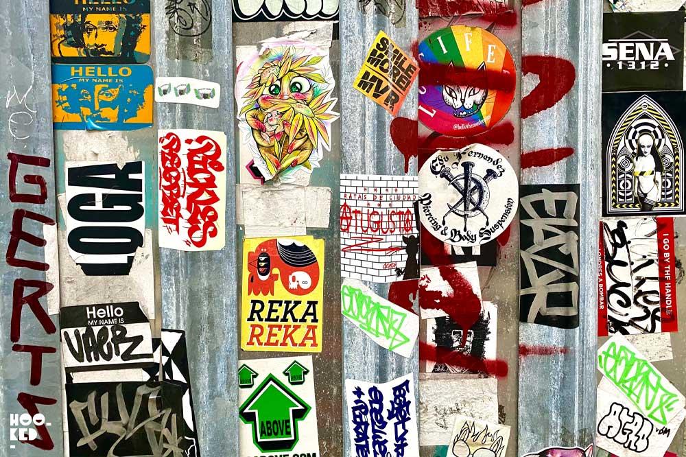 Shoreditch Street Art — Sticker Art seen on Brick Lane