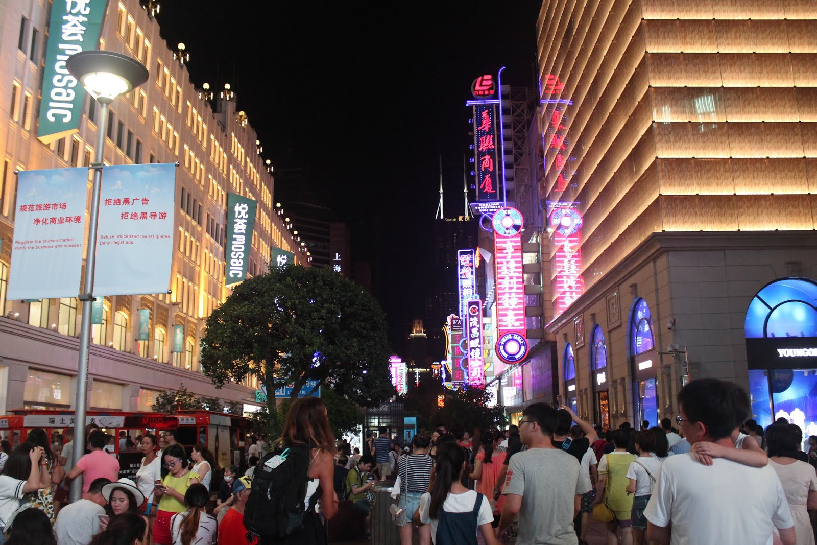 East Nanjing Road By Night