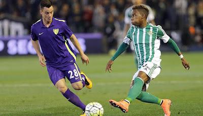 Real Betis remonta al Málaga 2 a 1