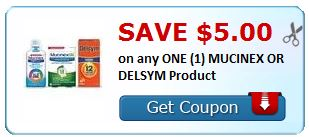 $5.00 on any ONE (1) MUCINEX OR DELSYM Product