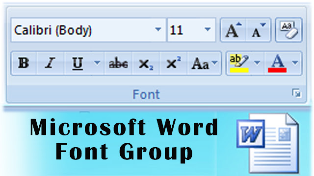 Microsoft Word Tutorial, Font Group Options, Ms Word 2007, Ms word 2010, Word, Microsoft Office, Bold, italic, Underline, Change Case, Clear formats, Changing Font Name