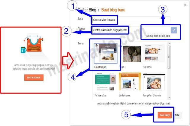 Membuat Nama dan Alamat Blog pada Menu Dasbord Blogger Mas Rinaldo