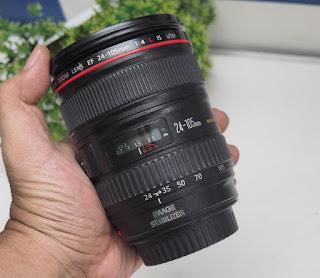 Lensa Canon 24-105 F4L bekas