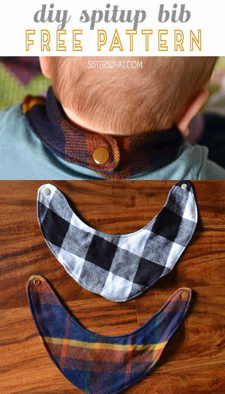 a DIY spit up bib with free pattern - easy beginning sewing tutorial
