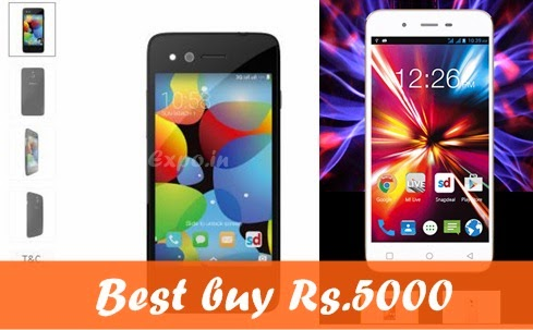 below 5000 best android latest version smartphones, buy android lollipop rs.4000 rs5000 smartphones flipkart snapdeal below RS.6000