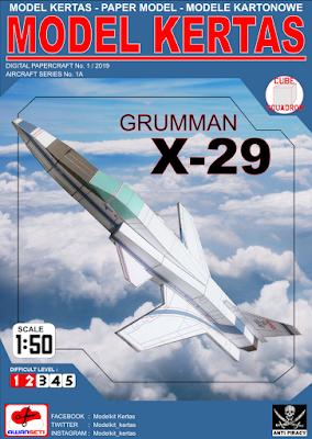 Image of 1/50 Grumman X-29