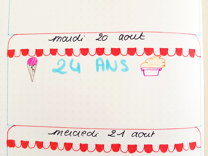 Bullet Journal Plan With Me Août 05 Blog Nimoise Nimes