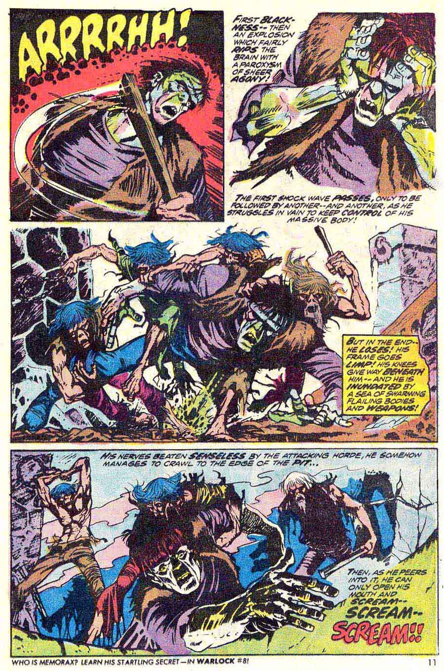 Frankenstein v2 #6 marvel comic book page art by Mike Ploog