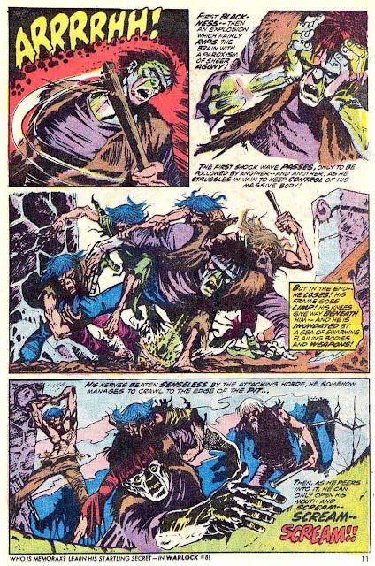Frankenstein v2 #6 marvel comic book page art by Mike Ploog