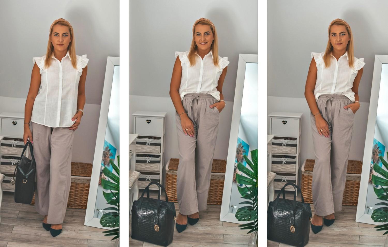 Szare spodnie w trzech stylizacjach