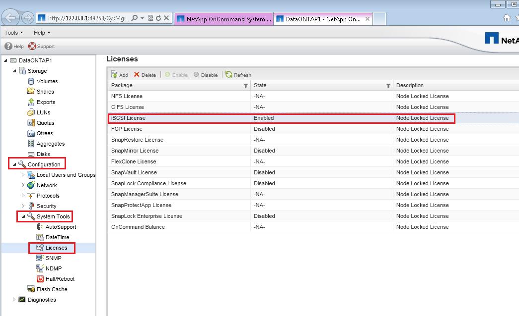 NetApp 8 2 Simulation : Part 4 iSCSI configuration & Create
