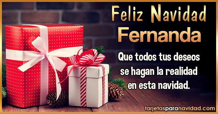 Feliz Navidad Fernanda