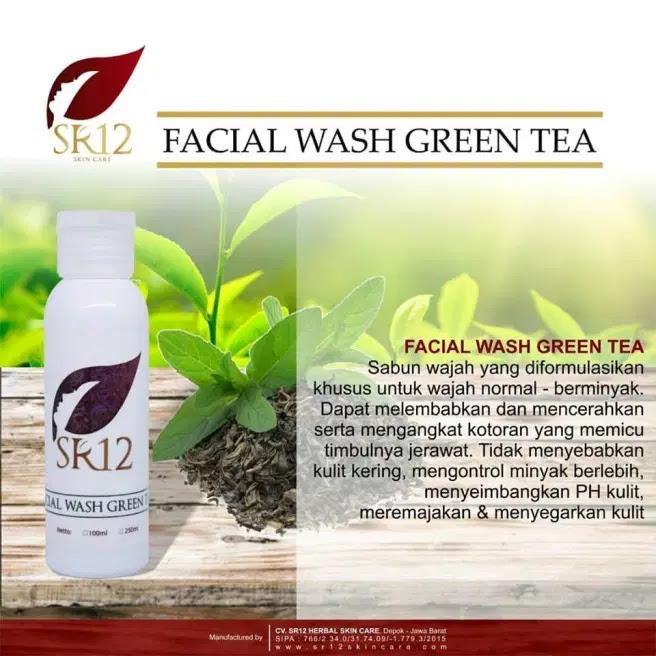 Facial Wash Green Tea SR12 Herbal Skincare
