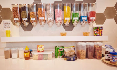 Source: HubSpot. The candy wall at the HubSpot Singapore office pantry.