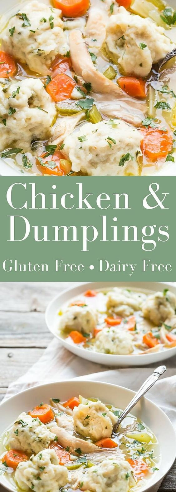Best Ever Gluten Free Chicken and Dumplings!