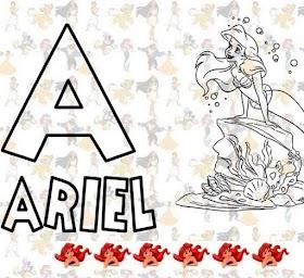 Alfabeto para Colorir - Walt Disney