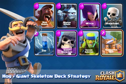 Strategi Deck Hog Rider + Giant Skeleton Arena 5 6 7 Clash Royale
