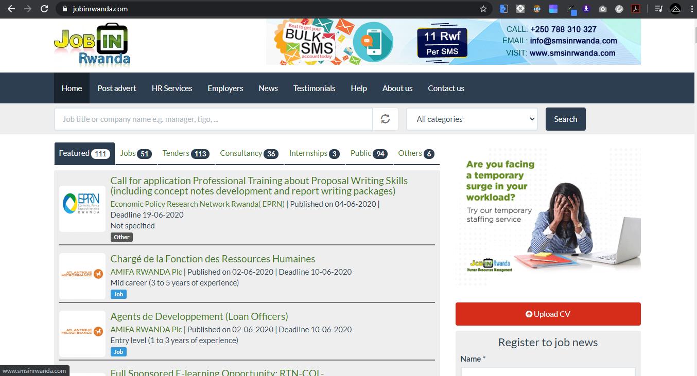 Job in Rwanda Website