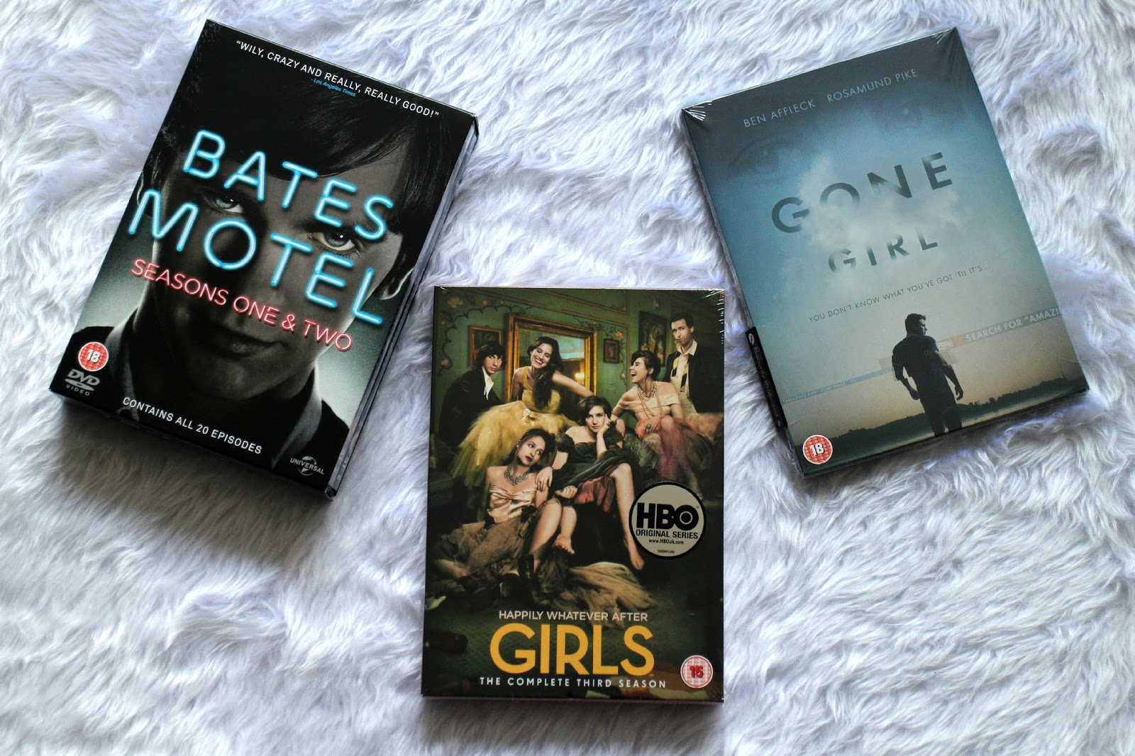 Bates Motel Girls Gone Girl DVDs
